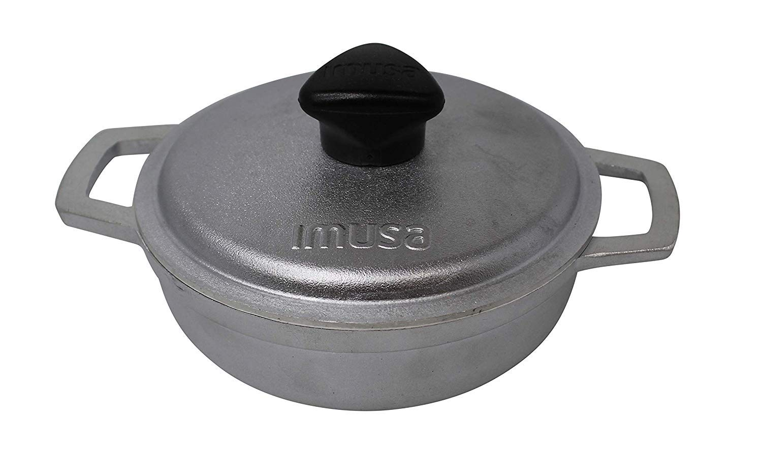 IMUSA USA GAU-80560 0.7Qt Traditional Colombian Mini Caldero Dutch Oven for Cooking and Serving Silver 0.7 Quart