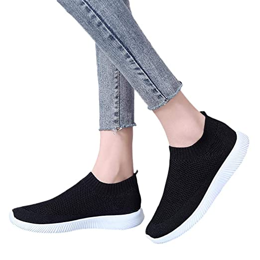 68760e4fb489c Women's Fashion Sneakers Breathable Mesh Casual Sport Shoes Comfortable  Walking Shoes