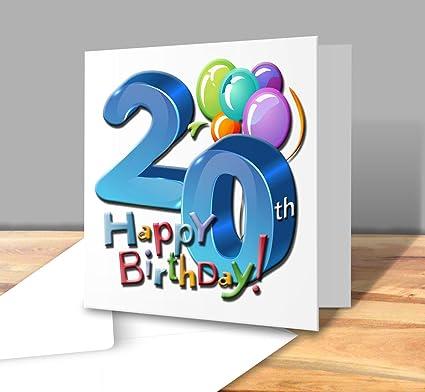 Feliz tarjeta de felicitación de cumpleaños - 20 años ...