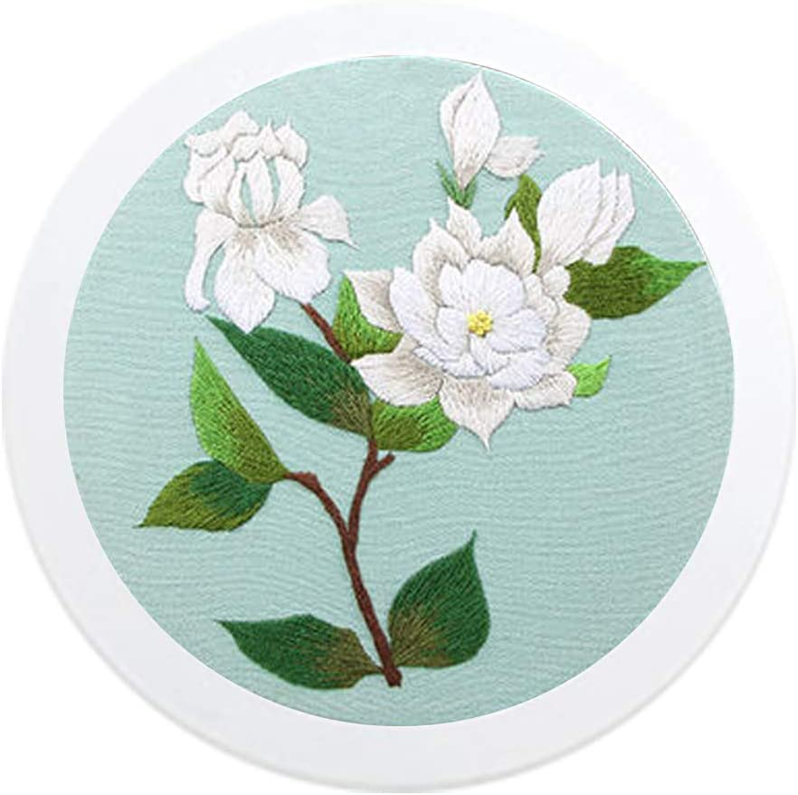 Custom Name/&Date Hand Embroidery Full Kit for Beginner \u2013 Beautiful Bouquet Embroidery Hoops \u2013 Needlepoint Hoop Wall Art Kit Custom Gift
