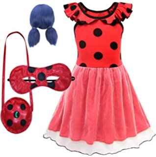 EMIN Niño de Miraculous Ladybug Costume para Niña Traje de ...