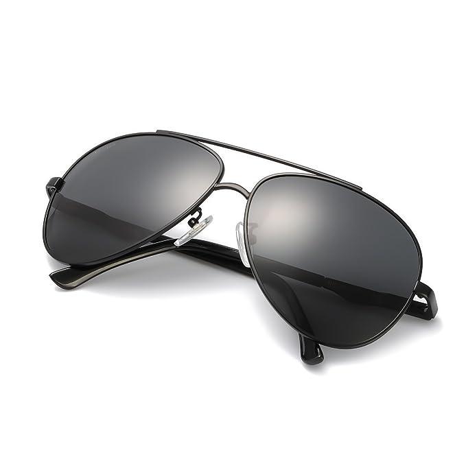 4e9ff96d180 Amazon.com  Men s Classic Aviator Polarized Sunglasses for Driving ...