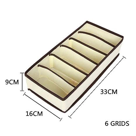 Sus997anPr Sujetador de Ropa Interior Organizador Armario Plegable Divisor de cajones Caja de Almacenamiento Organizador de Armario para Bufandas Calcetines
