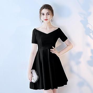Vestidos de noche cortos de color negro