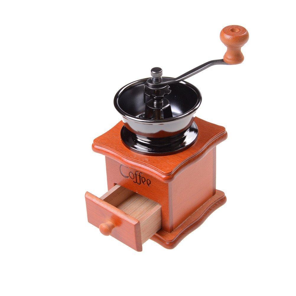 37YIMU - Clásico Portátil Molido Manual Café Bean Molinillo Retro Café Spice Mini Burr Mill con Piedra de Molino de Cerámica con Alta Calidad: Amazon.es: ...