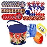 WWE World Wrestling Entertainment (8) Pre-Filled Party Favor Container Buckets! Perfect For Party Giveaways & Gifts!