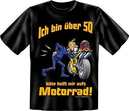 Biker T Shirt Mit über 50 Aufs Motorrad Shirt 4 Heroes Geburtstag