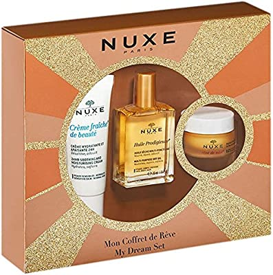 Nuxe Creme Fraiche De Beaute Crema, 30ml+Aceite Seco Prodigieuse, 30ml+Reve Miel Bálsamo Labial, 15g: Amazon.es: Salud y cuidado personal