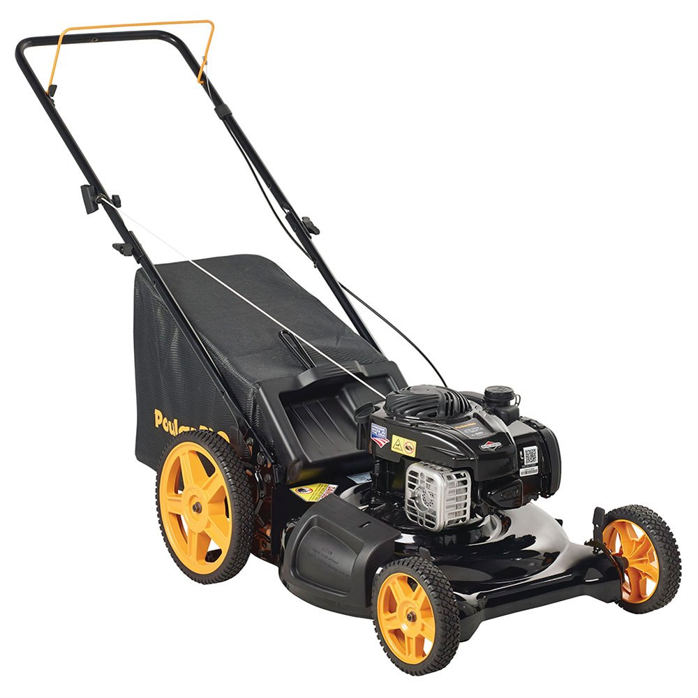 Poulan Pro 961320098 PR550N21RH3 Briggs 550ex Side Discharge/Mulch/Bag 3-in-1 Hi-Wheel Push Mower in 21-Inch Deck, 11-inch wheels