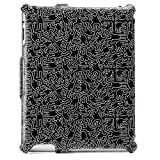 Keith Haring Collection Flip Cover for iPad2/iPad (3rd Gen.) People/Black