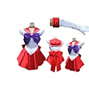 Sailor Mars Raye Hino Style Cosplay Costume 【 XL Size for Women 】 Japanese Anime