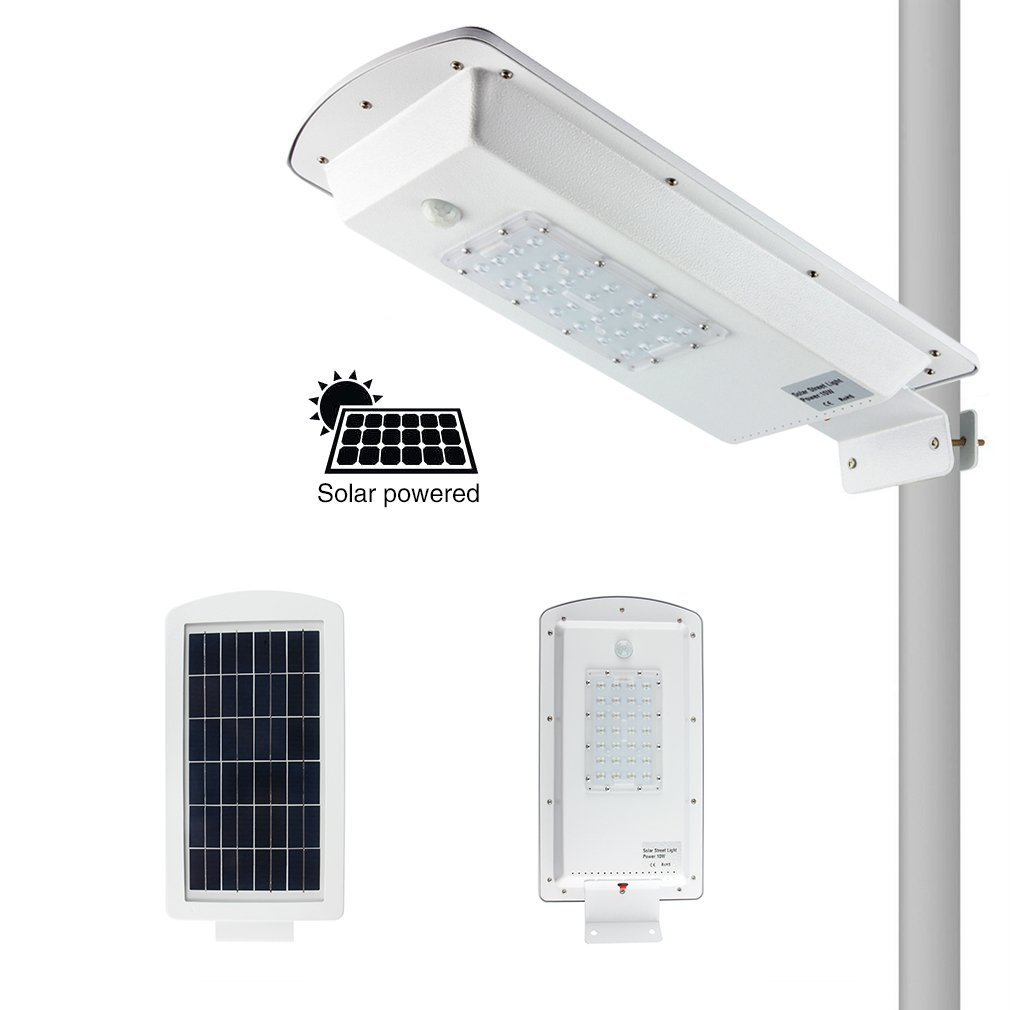 LED Solar Street Light Wall Garden Lights 15W All in One with Motion Sensor Waterproof IP65 Super Bright Security Area Night Lighting for Street Gutter Patio Garden Path