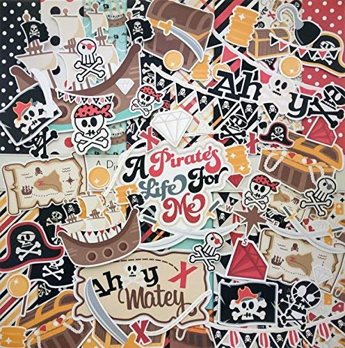 - A Pirate's Life - Die Cuts & Paper Set - by Miss Kate Cuttables - 16 Sheets of 12