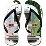 CafePress - Vintage Airstream Collection - Flip Flops, Funny Thong Sandals, Beach Sandals