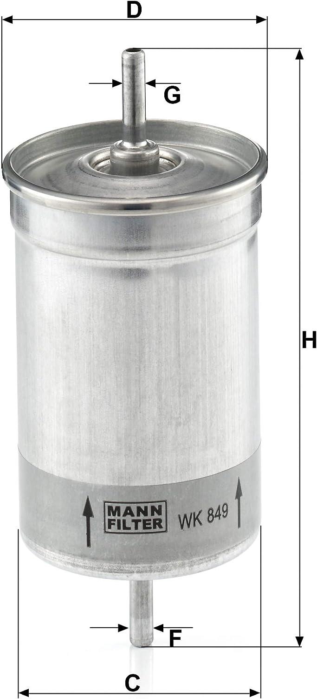 Original Mann Filter Kraftstofffilter Wk 849 Für Pkw Auto