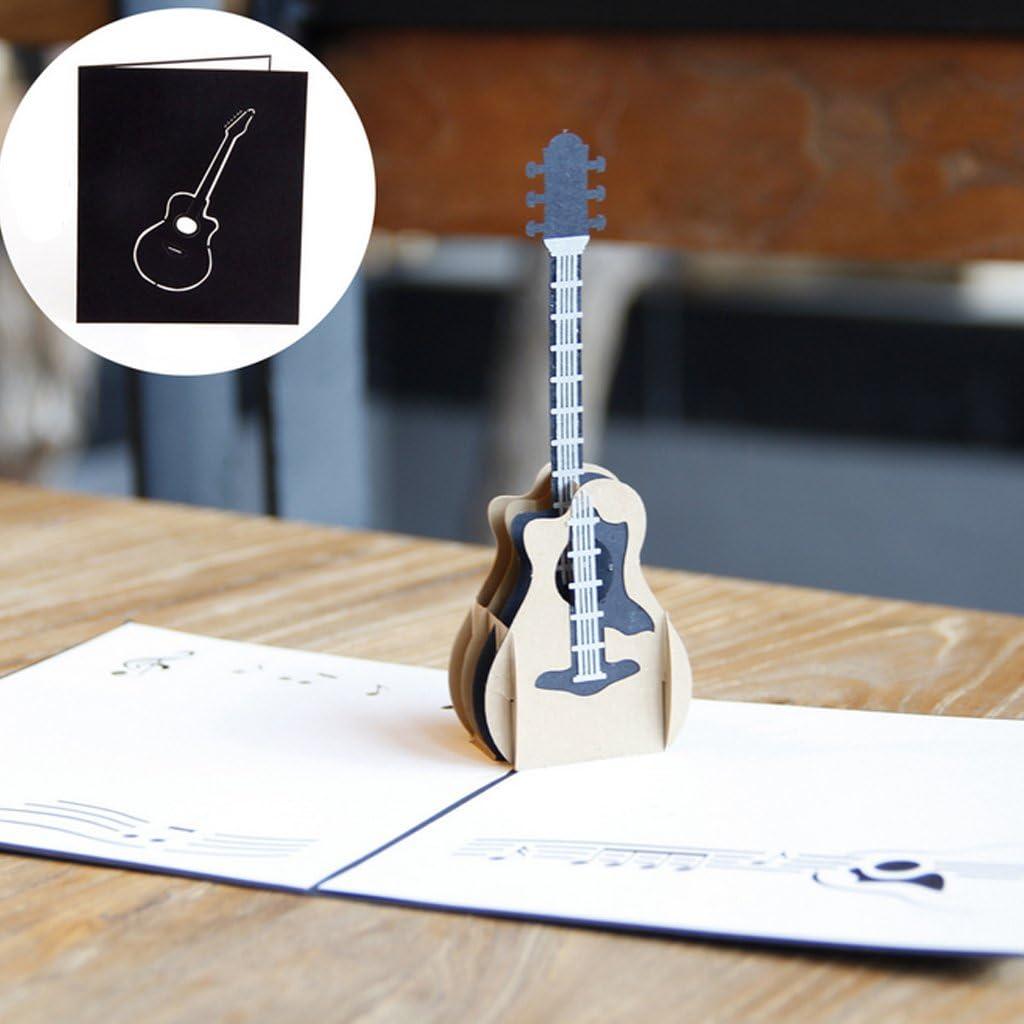 Dabixx 3D Pop Up Music Guitarra Tarjeta de felicitación Navidad ...