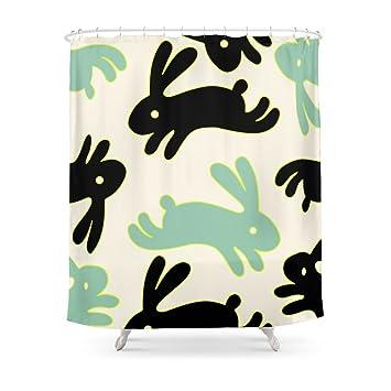 Society6 Bunny Honey Shower Curtain 71quot