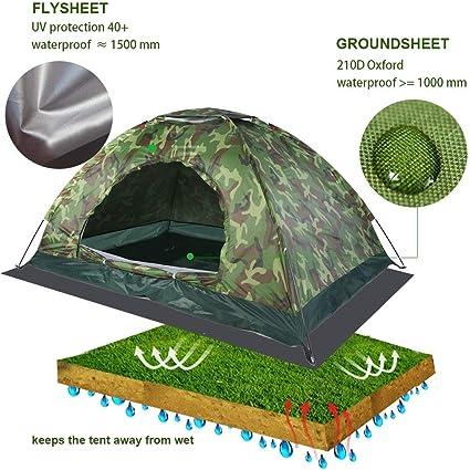 Grande Tente Imperm/éable De Protection UV De Camouflage Vigoureux Fort De for La Randonn/ée De Camping De Famille MAGT Tente