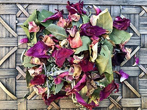 - Rose, Bay Leaf + Sage Loose Incense Blend