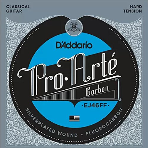 D'Addario EJ46FF ProArte Carbon Classical Guitar Strings, Dynacore Basses, Hard (Acoustic Classical String Basses)