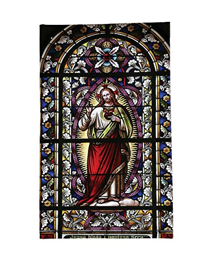 Interestlee Fleece Throw Blanket Sacred Heart of Jesus Pictures Catholic Gifts Believe Art Christian Church Cathedral Window View Silky Satin Red Black White Blue by Interestlee