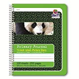 Pacon Spiral Bound Composition Book, 5/8 in Picture Story, Green