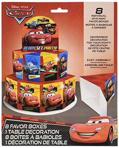 Disney Cars Cajas con diseño de centro de mesa decoración para 8