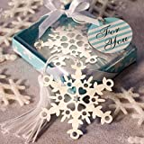 75 Snowflake Bookmark Favors by Fashioncraft
