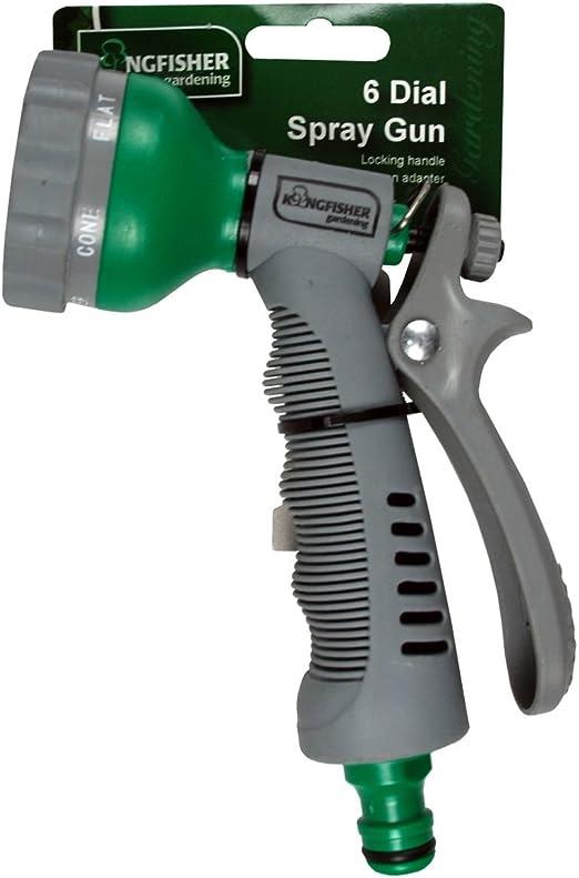 Kingfisher - Pistola para manguera de jardín con difusor: Amazon.es: Jardín