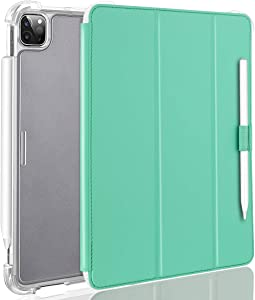 Valkit iPad Pro 12.9 Case 2018, Protective Smart Folio Stand Cases with Apple Pencil Holder, Auto Sleep/Wake, Support Apple Pencil Charging for iPad Pro 12.9 Inch 3rd Gen, Mint Green