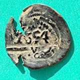 1654 ES Spanish Philip IV Castle  and  Lion Colonial Caribbean Pirate Era Cob #6 Coin Good Details