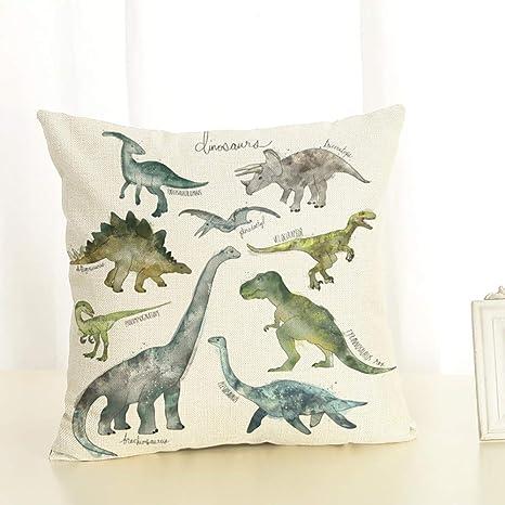 Almohada dinosaurios Impreso Sofá Decoración Cojín Caso ...