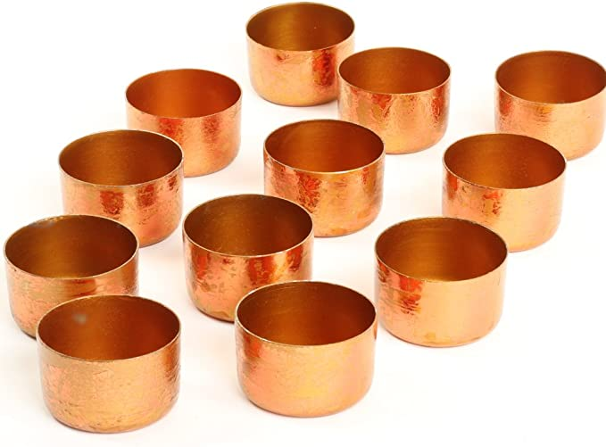 tealight decoration  Christmas table decoration Classic Copper Glass wedding candle holders Set of 612 Rose gold