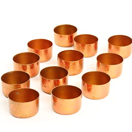2172b63300 Amazon.com: Koyal Wholesale Metal Tealight Candle Holder Cups, Rose ...