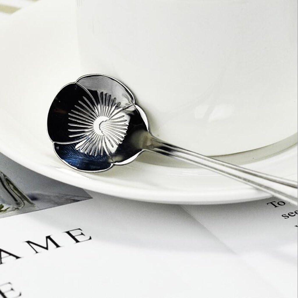 FLAMEER Edelstahl Teel/öffel Kaffee Zuckerl/öffel Soda Latte Tee Kakaol/öffel Silber Bunt 1