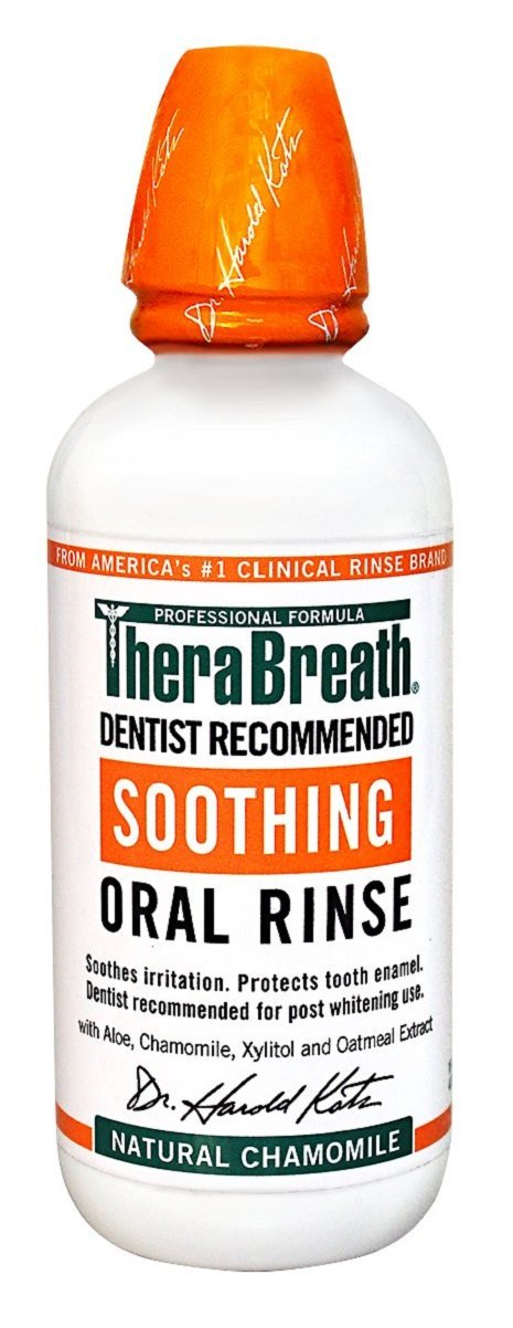 TheraBreath Dentist Formulated Soothing Oral Rinse- Natural Chamomile Flavor, 16 ounce