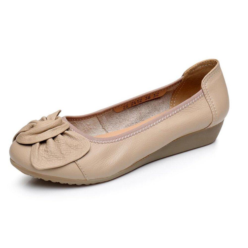 XZGC Frauen Frühling Leder Schuhe Flache Komfortable Arbeit Schuhe Casual Krankenschwester Schuhe