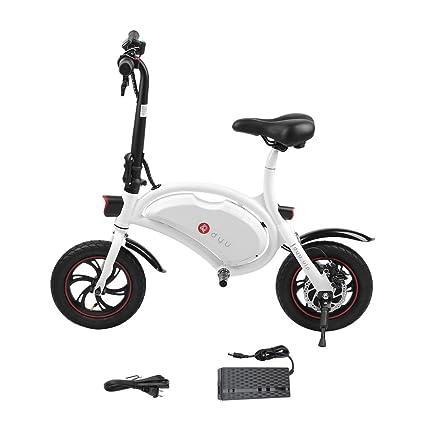 9003c3f7368 DYU Folding Electric Cycling Bike, 12 Inch Mini Aluminum E-Bike 19 Mile  Range