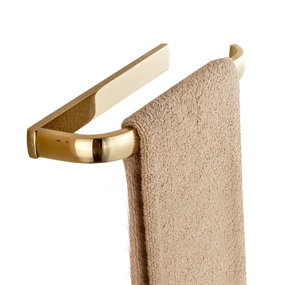 Leyde Solid Brass Towel Ring Lavatory Home Decor Clothes Hanger Towel Racks and Holders Space Saver,Gold Finish