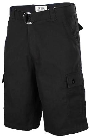 black cargo shorts mens