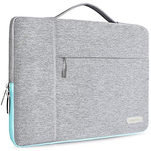HSEOK 13-13.3 Inch Laptop Sleeve Case, Environmental-Friendly Spill-Resistant Briefcase for 13-Inch MacBook Air/Pro, iPad Pro 12.9-Inch, Surface Laptop/Book/Pro3/Pro4 and Most 14-Inch Laptop, Gray