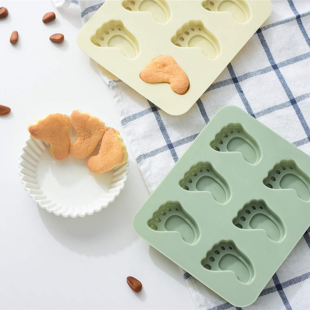 Tang Xiao Bang Diamond Silicone Chocolate Mold 20 Cavities Candy Making Molds DIY Mould for Mousse Jelly Cookie