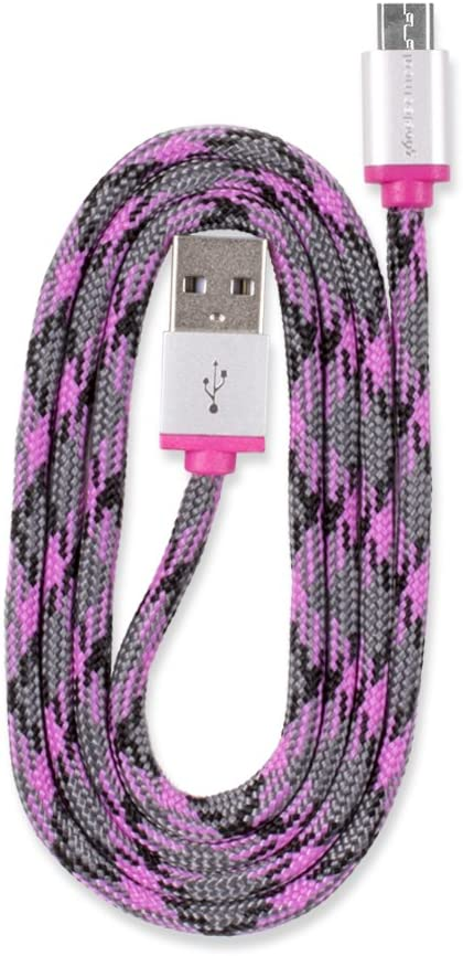 3//0.9m Purple 360 Electrical 360401 QuickCharge Braided Micro USB Cable
