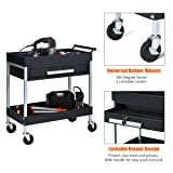 Goplus Rolling Tool Cart Tool Organizers, 2-Tier