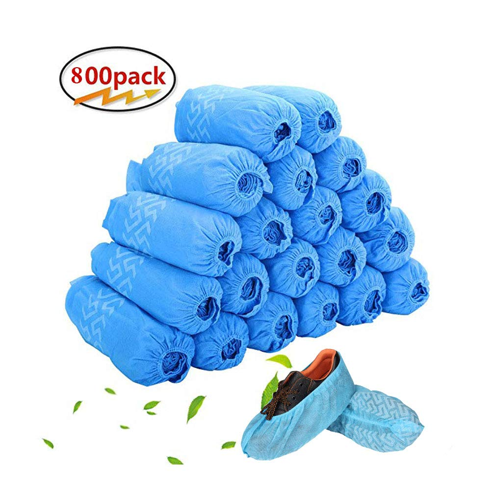 Thicken Non-Slip Disposable Boot & Shoe Covers Durable, Indoor | Protect Your Home, Floors and Shoes (800 Pack)