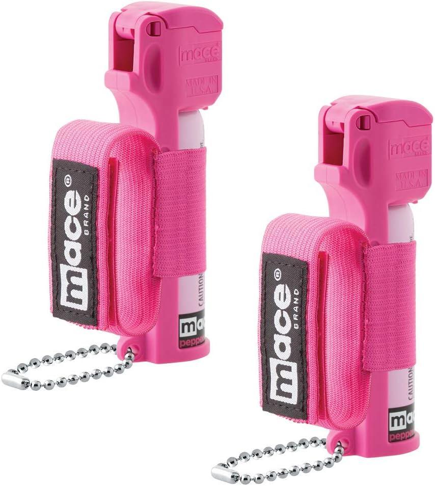 Mace Brand Pepper Spray- Police Strength OC Pepper Formula, UV Detection Dye, for Women