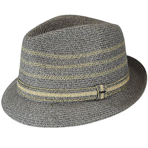Bailey of Hollywood Mens Lichter Braided Stripe Fedora Hat