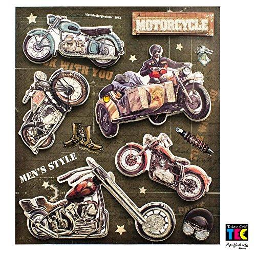 Adesivos 3D 140 x 125 mm Motocicletas Ref.15784-AD1587 Toke e Crie