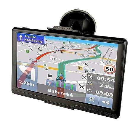 Camiones Furgonetas y LCD de 7 pulgadas coche GPS de navegación con Bluetooth, actualizaciones de