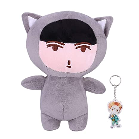 Gótico Perhk Kpop EXO Cute Cartoon Plush Doll Toy Chanyeol ...